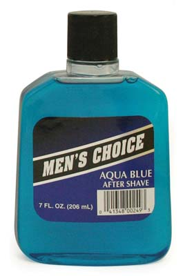 View MEN'S CHOICE AFTER SHAVE 5 OZ AQUA BLUE (MADE IN USA)