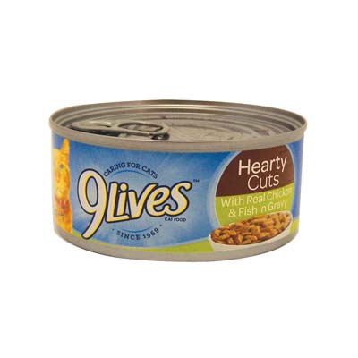 View 9 LIVES CAT FOOD 5.5 OZ CHICKEN/FISH DINNER