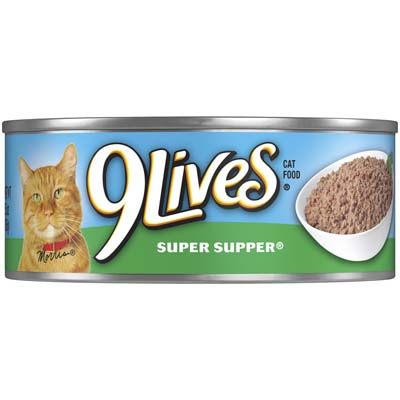 View 9 LIVES CAT FOOD 5.5 OZ SUPER SUPPER