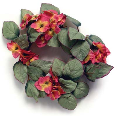 View HYDRANGEA WREATH 12 INCH ASSORTED COLORS PREPRICED $2.99