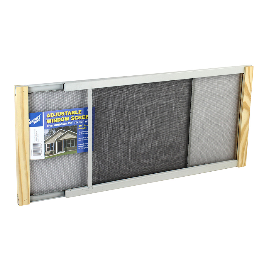 View COMFORT ZONE ADJUSTABLE WINDOW SCREEN 10 INCH HIGH EXTENDABLE 20 - 33 INCH WIDE