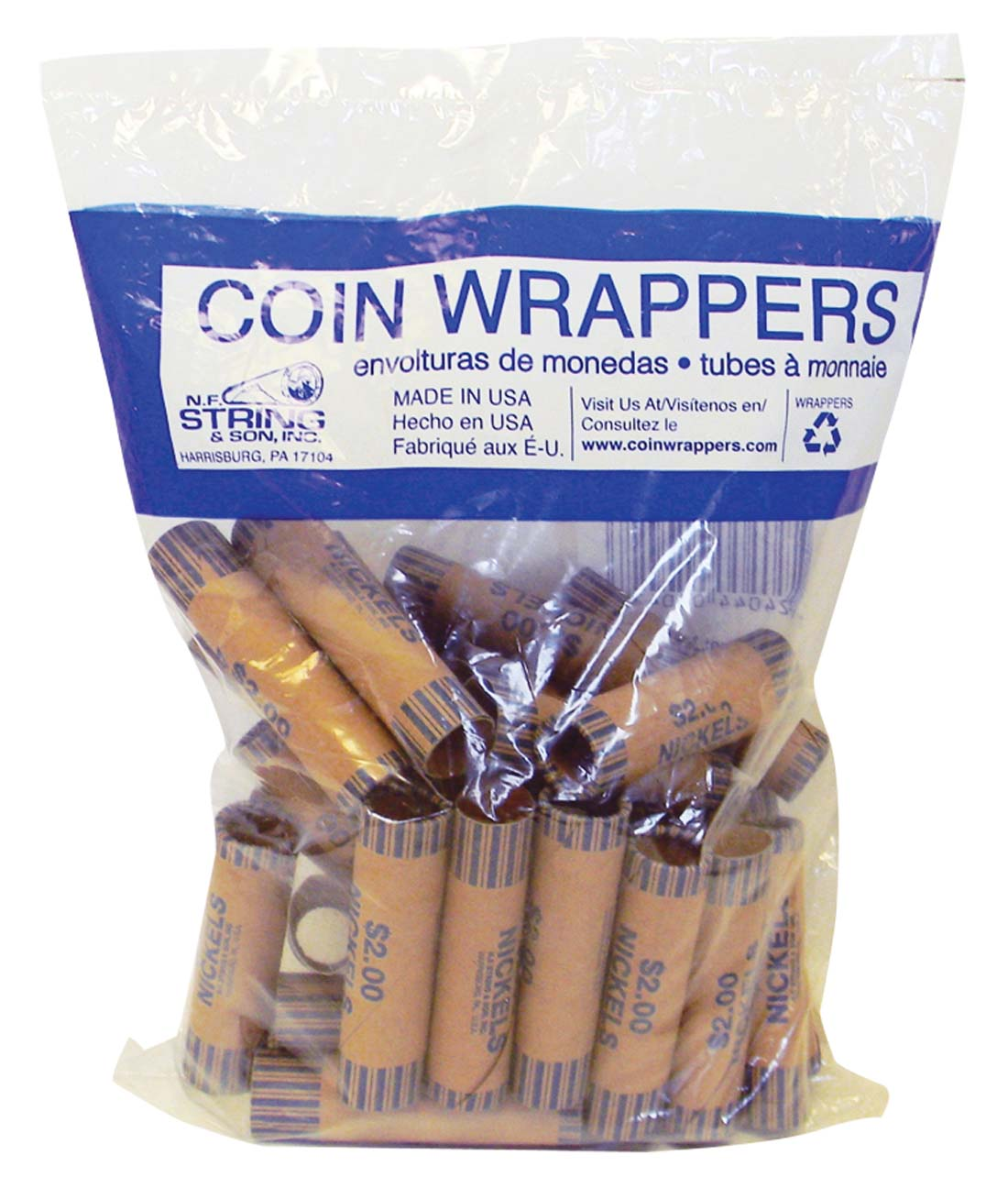 View COIN WRAPPERS 36 COUNT NICKEL