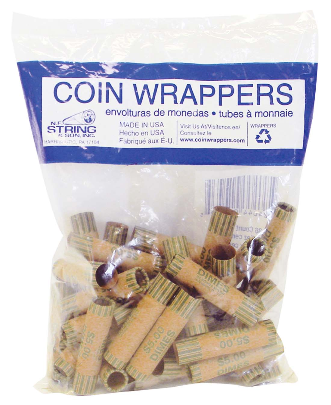 View COIN WRAPPERS 36 COUNT DIME