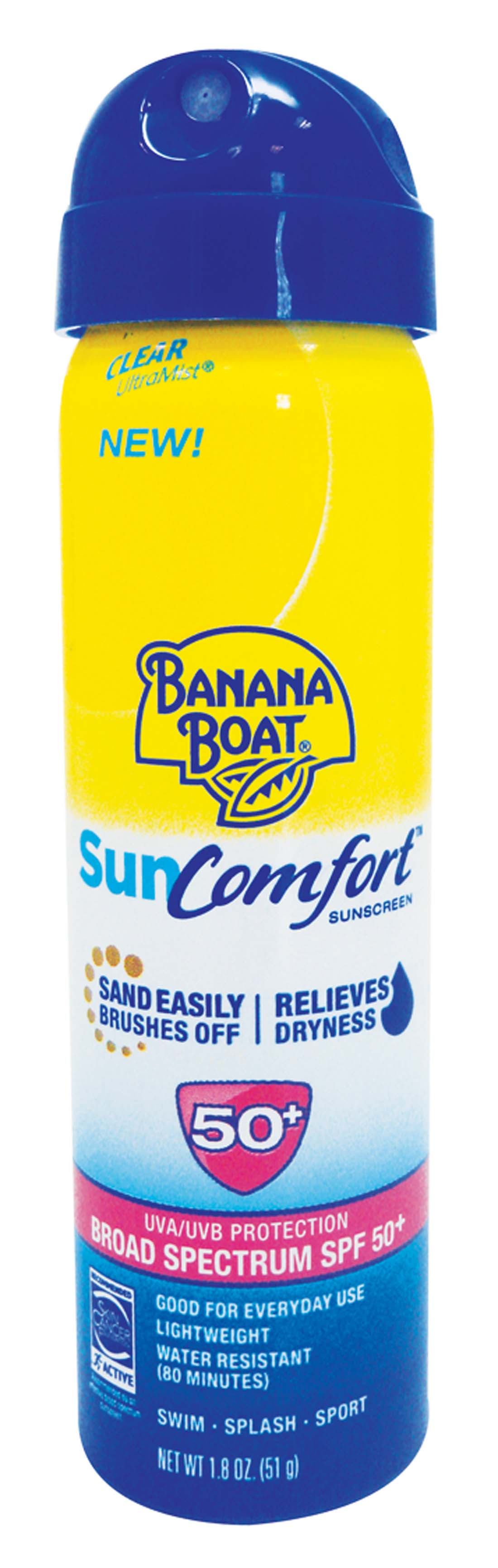 View BANANA BOAT SUN COMFORT 1.8 OZ SPF 50 ULTRA MIST SPRAY