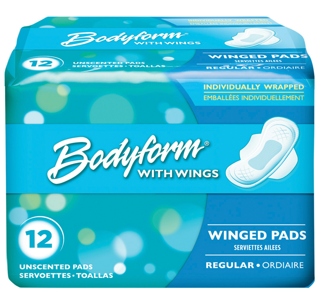 View BODYFORM WING MAXI PAD 12 COUNT REGULAR
