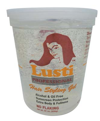 View LUSTI PROFESSIONAL HAIR STYLING GEL 32 OZ SUPER HOLD CLEAR **MADE IN USA**