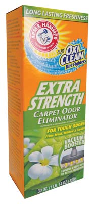 View ARM & HAMMER CARPET ODOR ELIMINATOR 30 OZ PLUS OXI CLEAN EXTRA STRENGTH