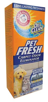 View ARM & HAMMER CARPET ODOR ELIMINATOR 30 OZ PLUS OXI CLEAN PET FRESH