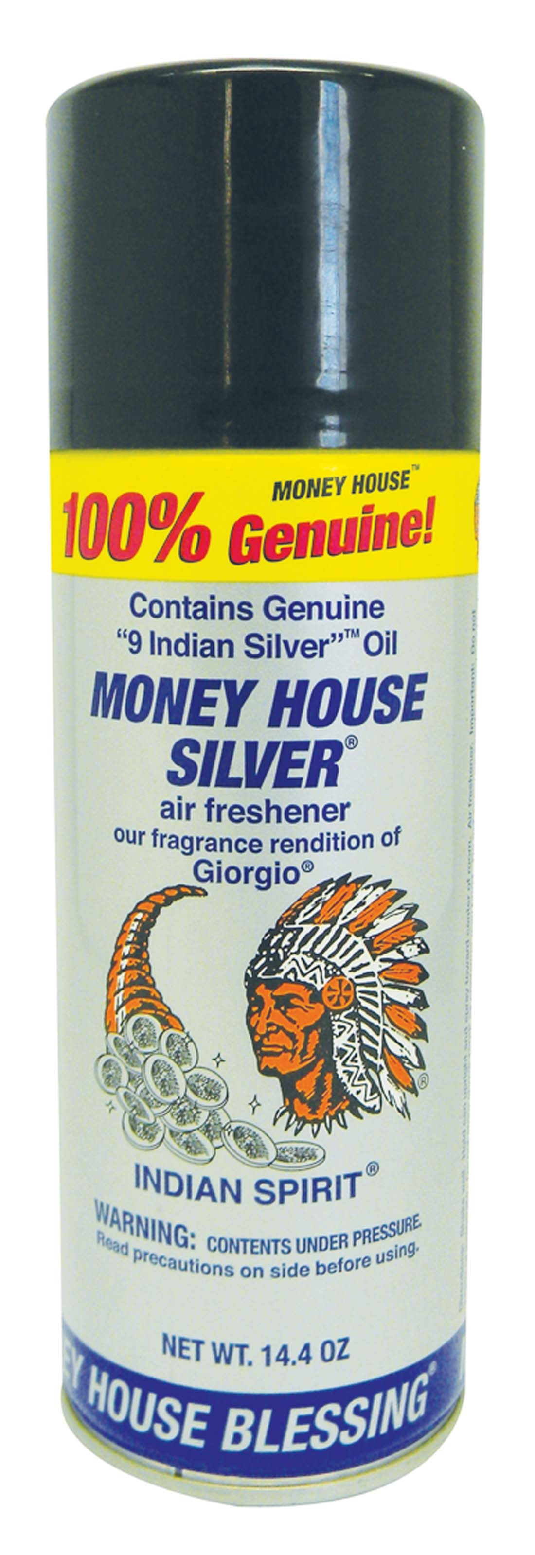 View MONEY HOUSE AIR FRESHENER 14.4 OZ SILVER
