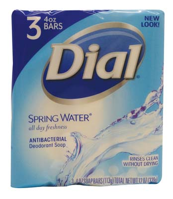 View DIAL ANTIBACTERIAL BAR SOAP 3 PACK 4 OZ SPRING SCENT**MADE IN USA**