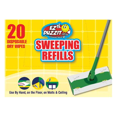 View EZ DUZZIT DRY SWEEPING CLOTH REFILLS 20 SHEETS