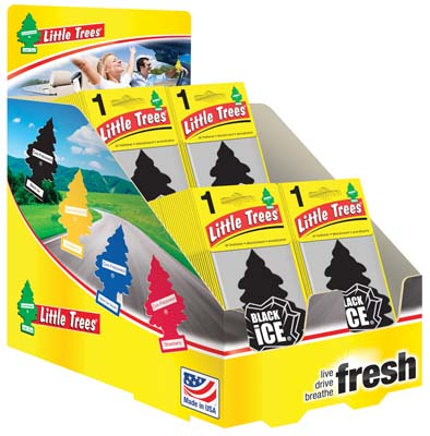 View LITTLE TREE AIR FRESHENER DISPLAY  BLACK ICE SCENT