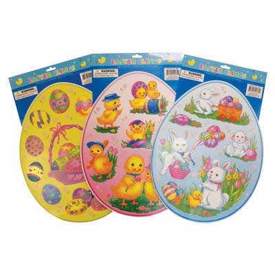 View EASTER CLING 15 X 12 INCH ASSORTED DESIGNS