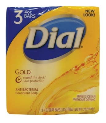 View DIAL ANTIBACTERIAL BAR SOAP 3 PACK 4 OZ GOLD **MADE IN USA**