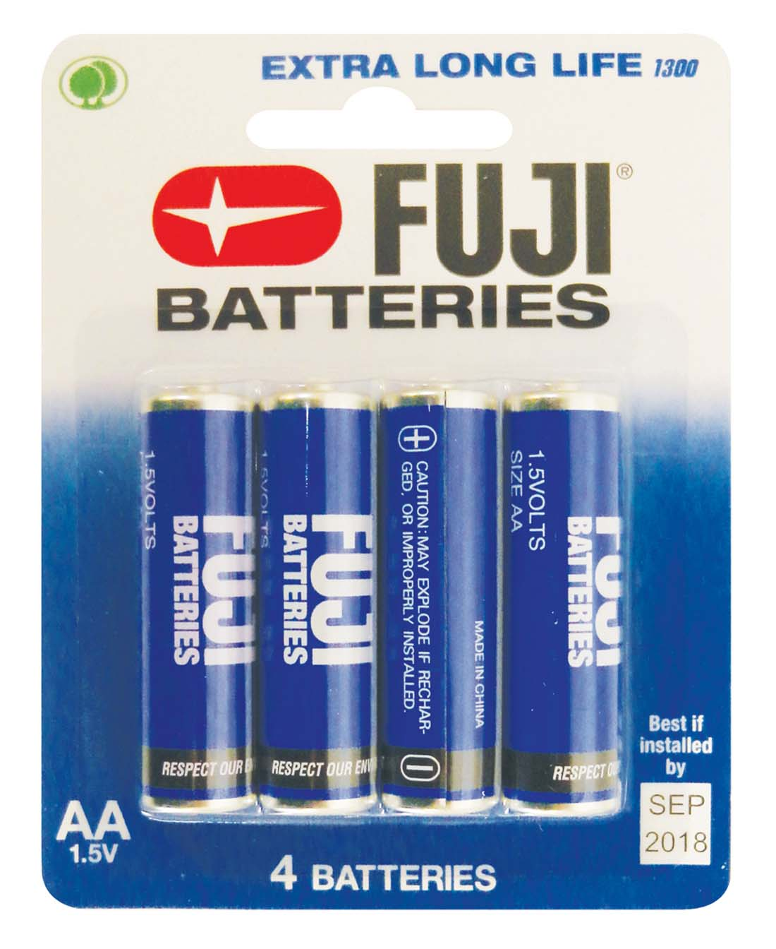 View FUJI BATTERY AA 4 PACK EXTRA LONG LIFE