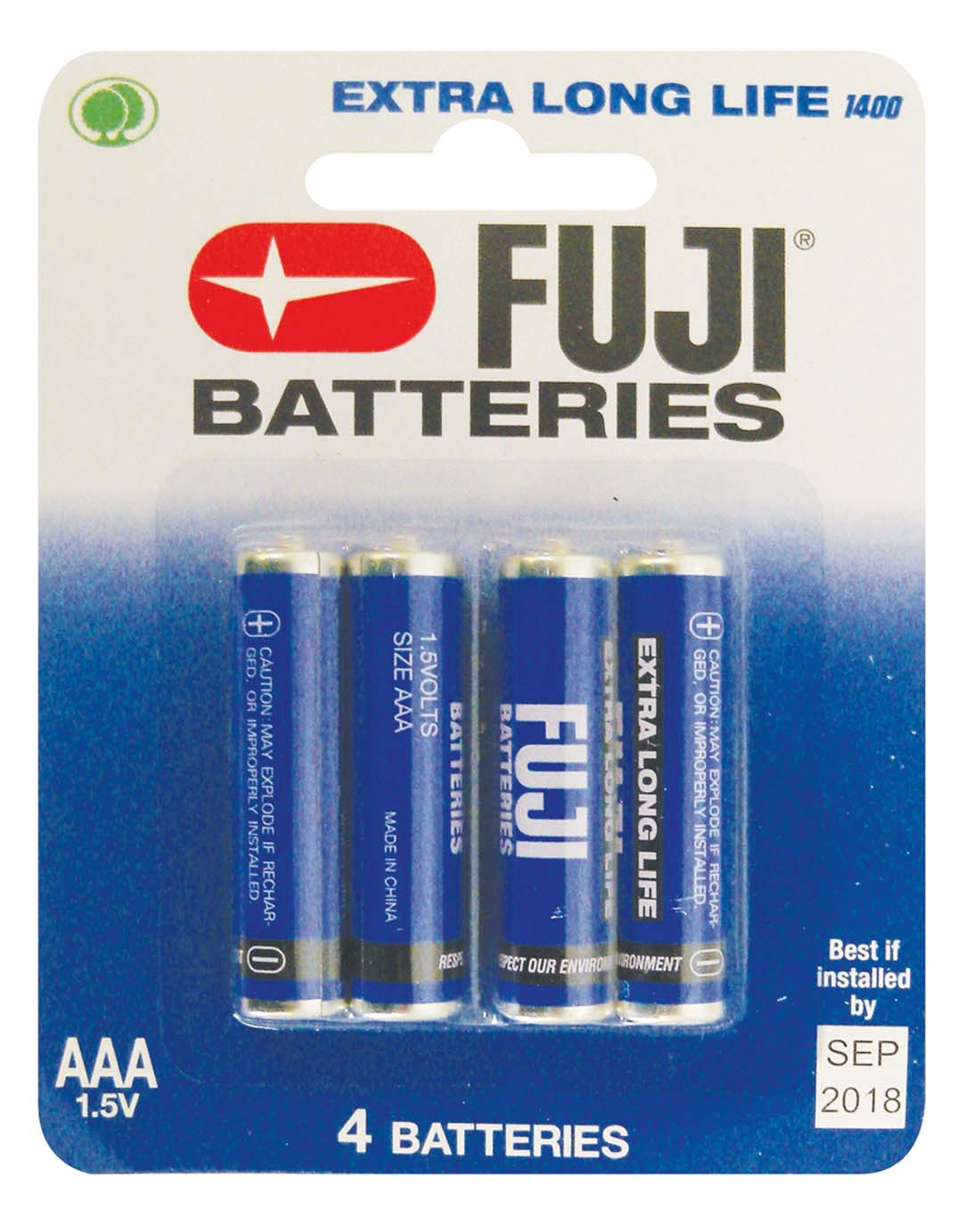 View FUJI BATTERY AAA 4 PACK EXTRA LONG LIFE