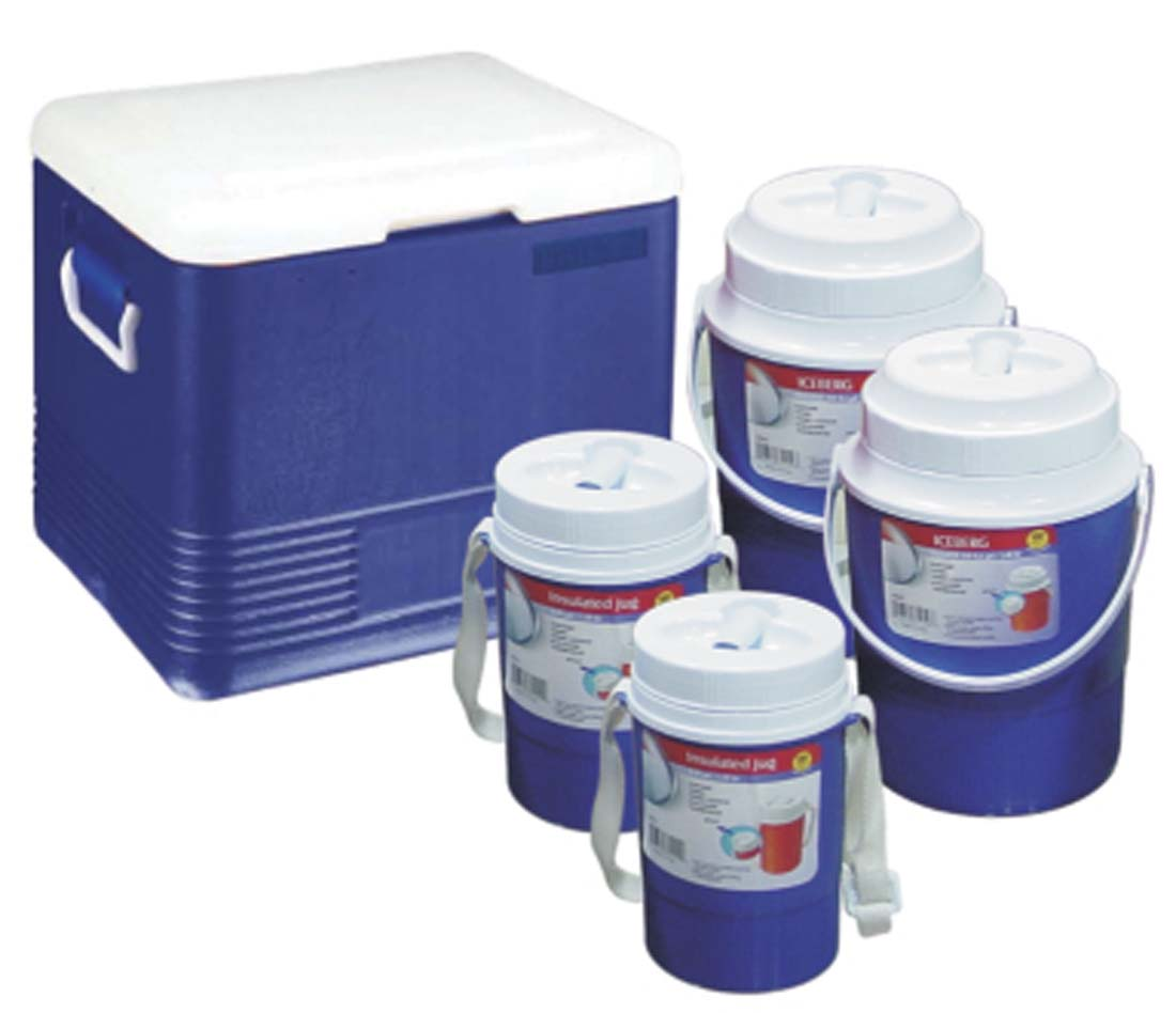 View COOLER SET 5 PC - 5.85 GL COOLER/ 2 PC 0.6 GL JUGS/ 2 PC 0.30 GL JUGS