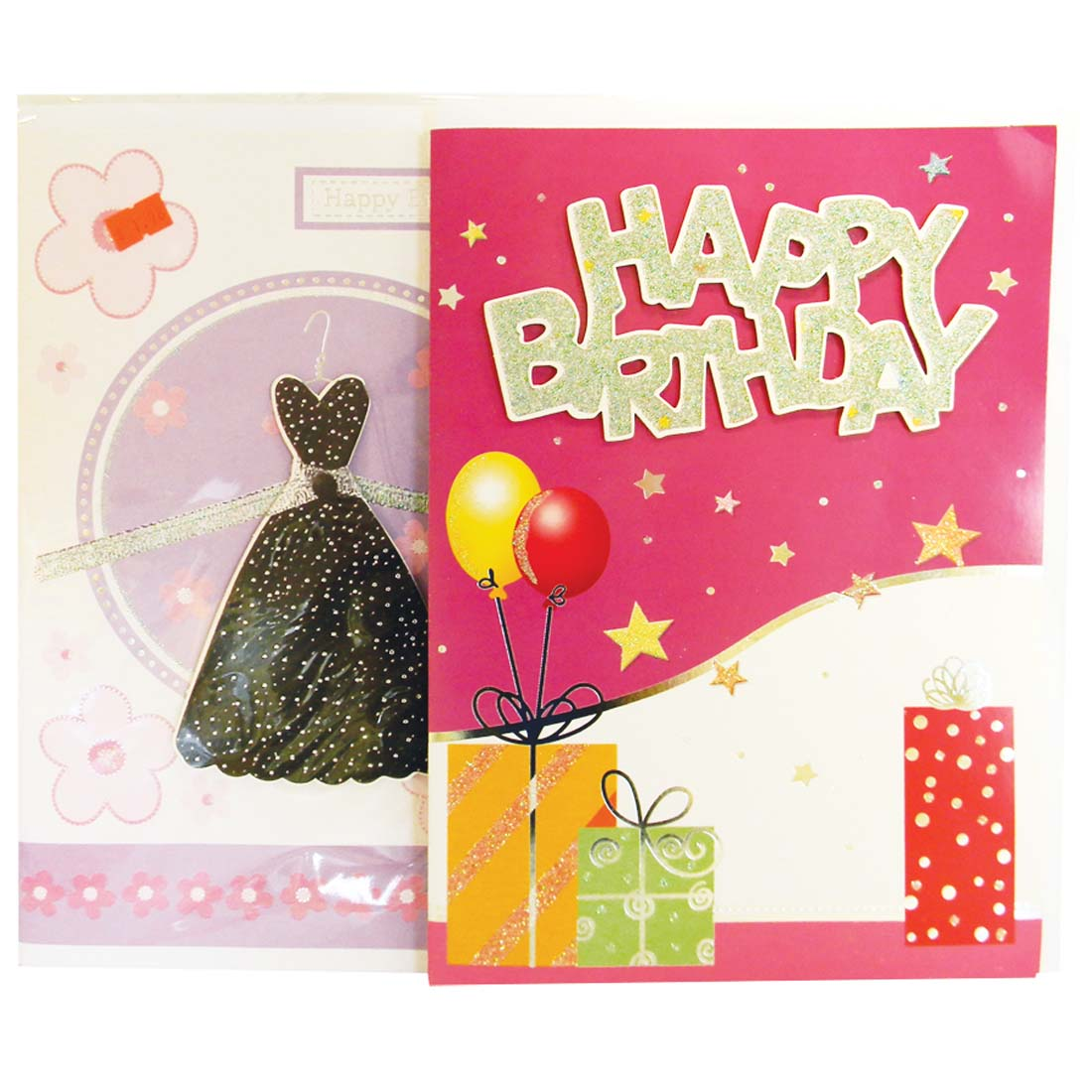 View JUMBO BIRTHDAY CARDS 8.25 X 11.5 INCH ASSORTED GLITTER & 3-D DESIGNS
