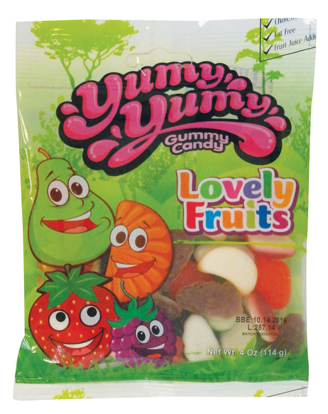 View YUMY YUMY GUMMY LOVELY FRUITS 4 OZ