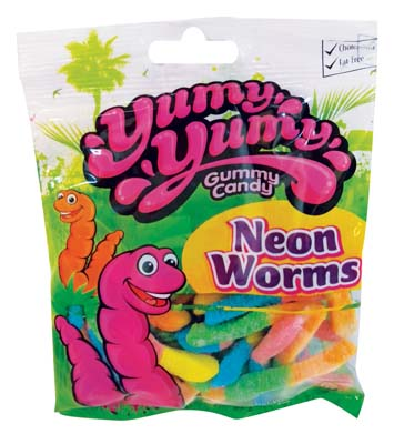 View YUMY YUMY NEON WORMS 4.5 OZ