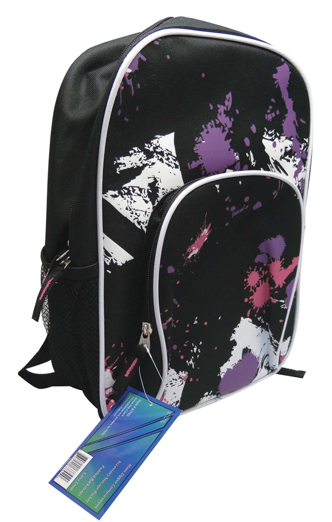 View BACKPACK 14 INCH WITH FRONT & SIDE POCKETS PREPRICED $12.99