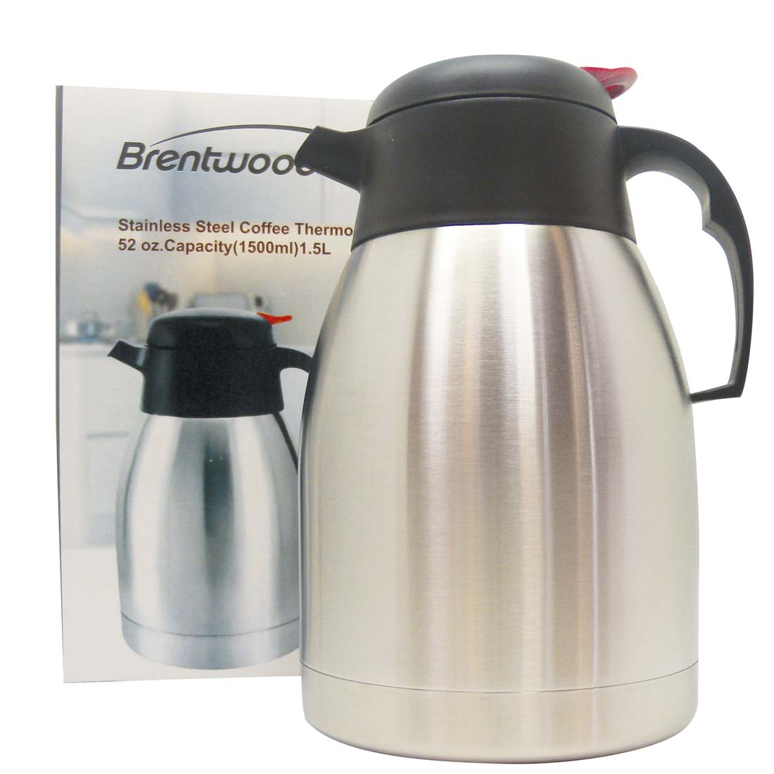 View BRENTWOOD COFFEE THERMOS 52 OUNCES STAINLESS STEEL