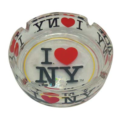 "View ASHTRAY 4 INCH ""I LOVE NY"" CLEAR GLASS"