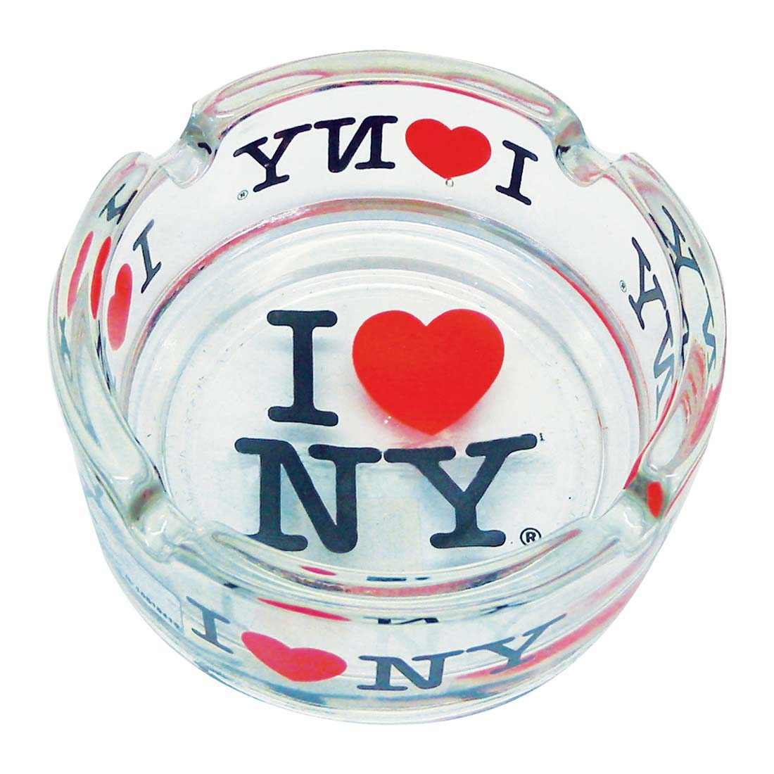 "View ASHTRAY 3 INCH ""I LOVE NY"" CLEAR GLASS"