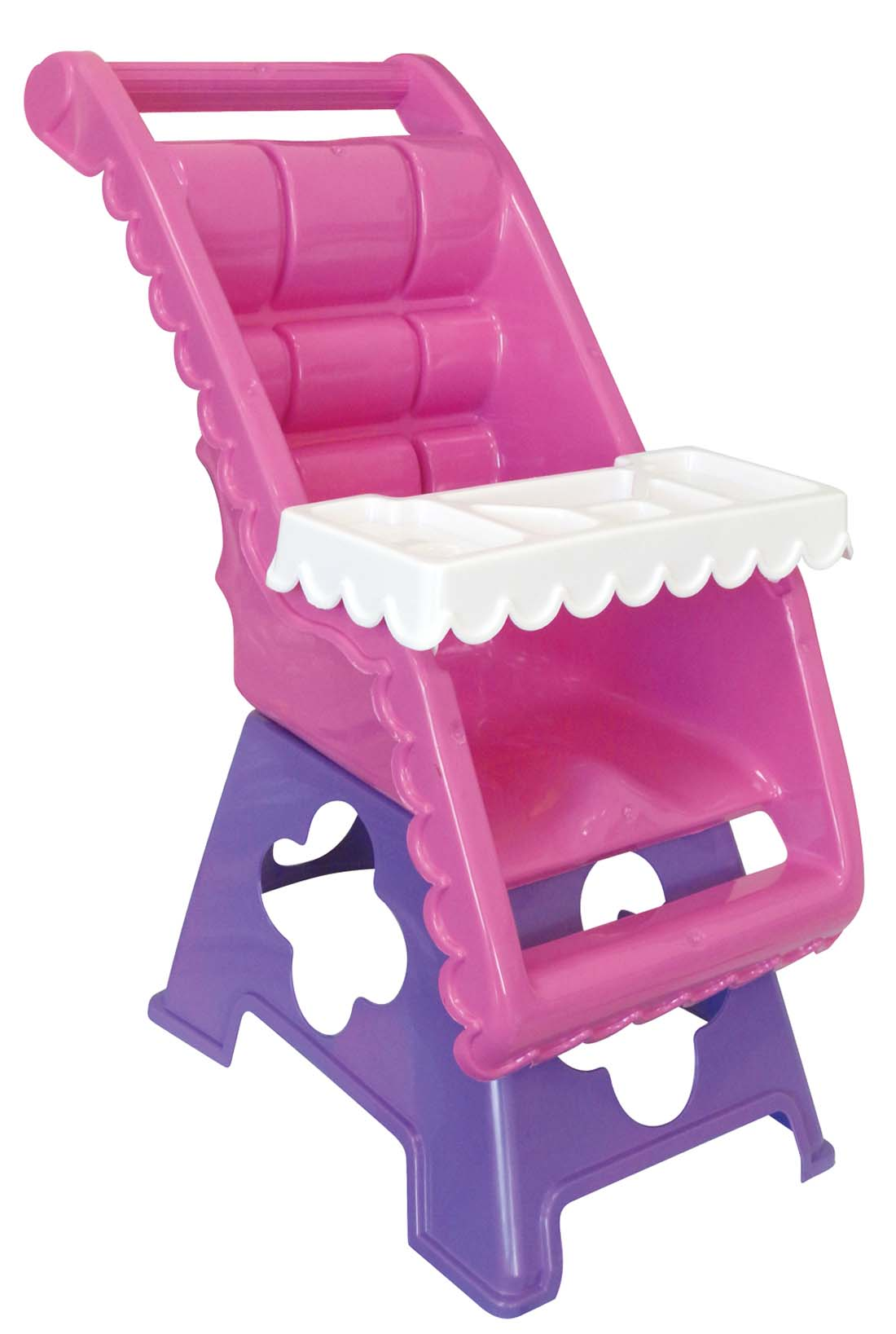 View DOLL HIGH CHAIR FITS DOLLS UP TO 18 INCHES