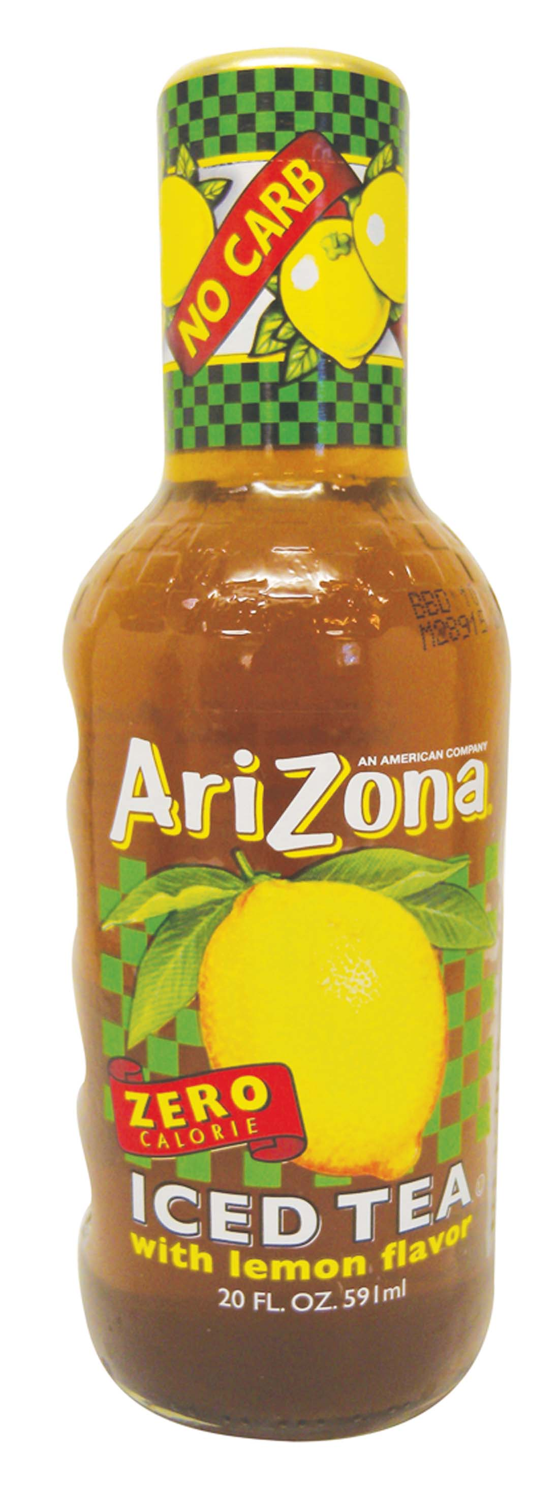 View ARIZONA ICED TEA 20 OZ GLASS BOTTLE ZERO CALORIE LEMON