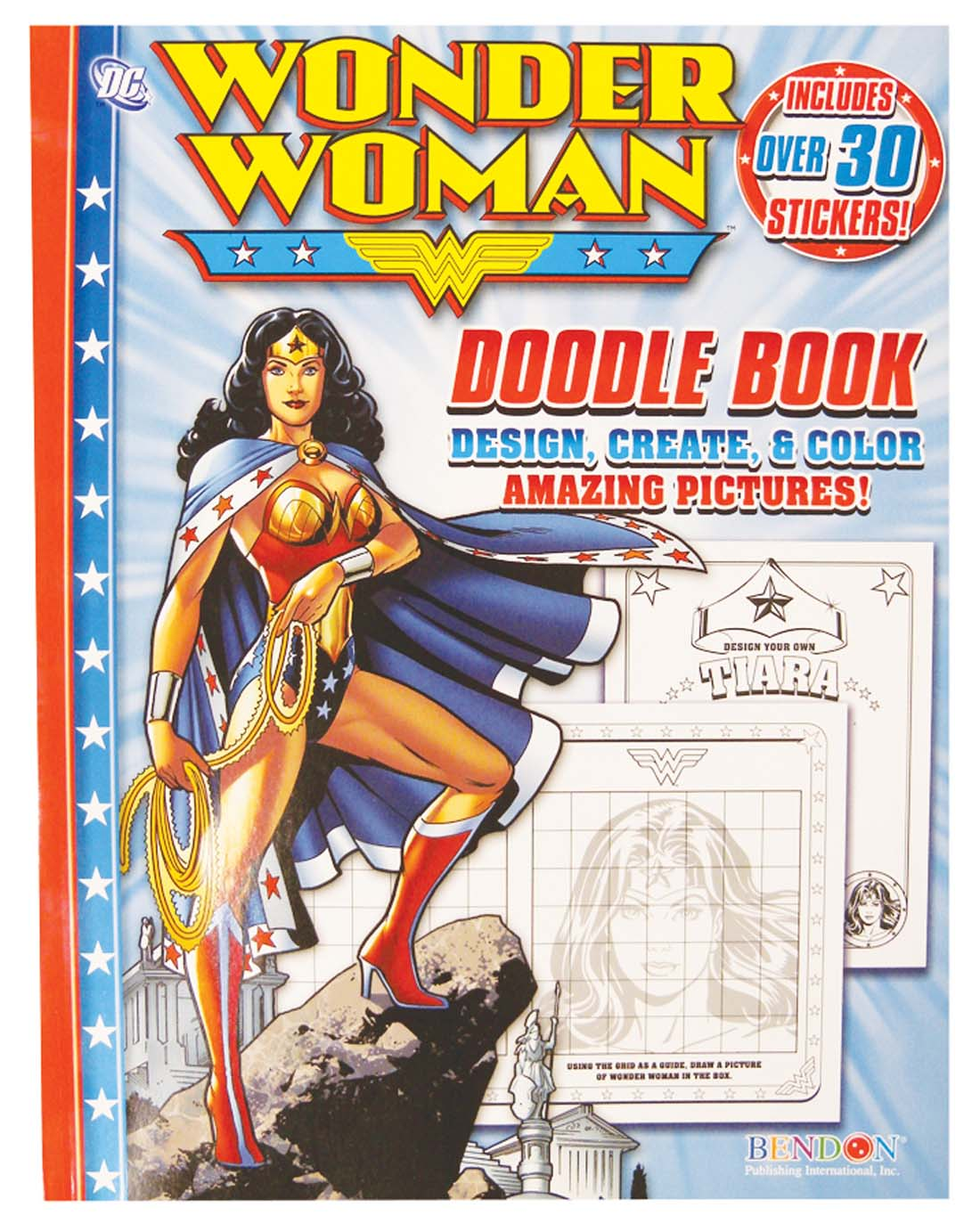 View WONDER WOMAN DOODLE BOOK 66 PAGES WITH STICKERS PREPRICED $2.99