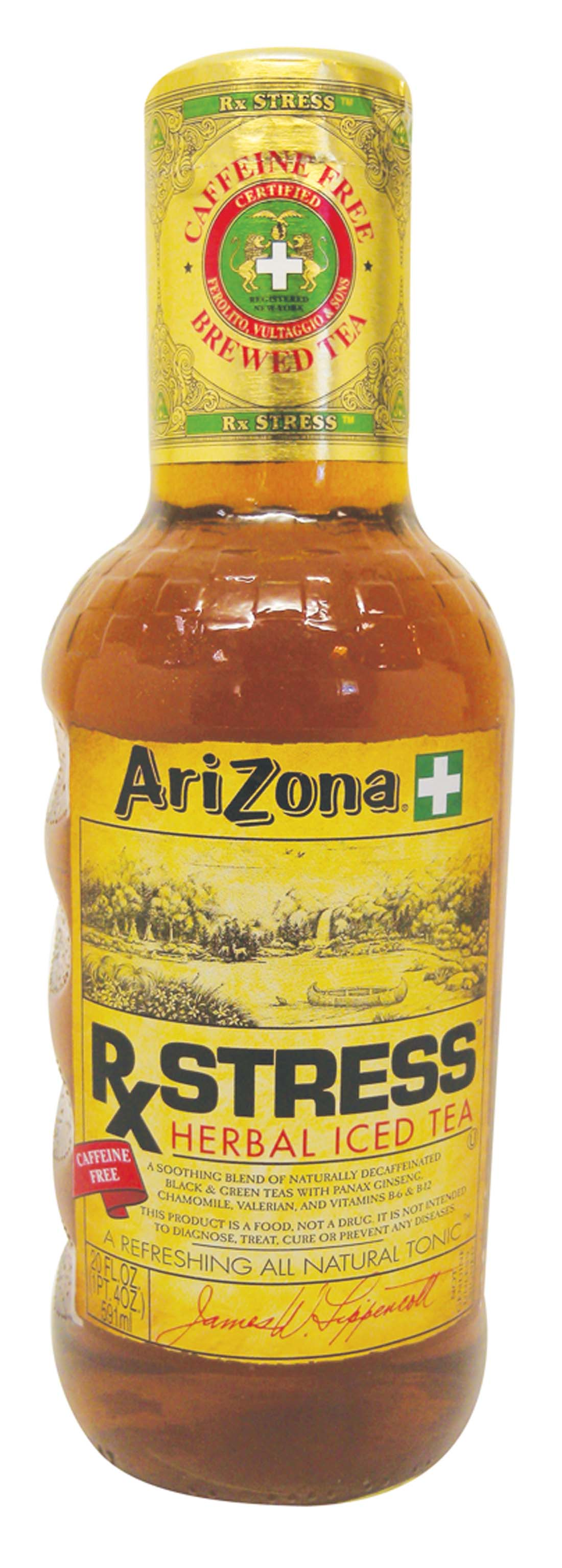 View ARIZONA HERBAL ICED TEA 20 OZ GLASS BOTTLE RX STRESS