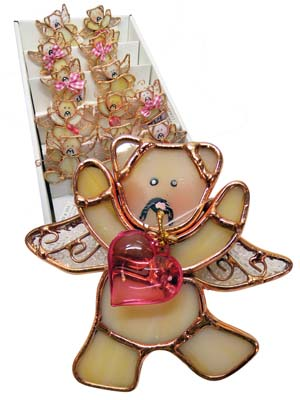 View DECORATIVE POT HANGERS 3 INCH IN DISPLAY ASSORTED BEAR ANGEL DESIGNS