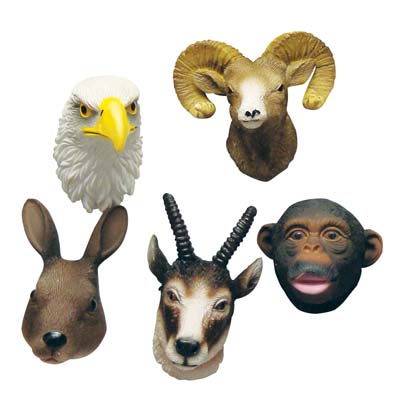 View MAGNETS 2 INCH ASSORTED ANIMAL HEAD DESIGNS