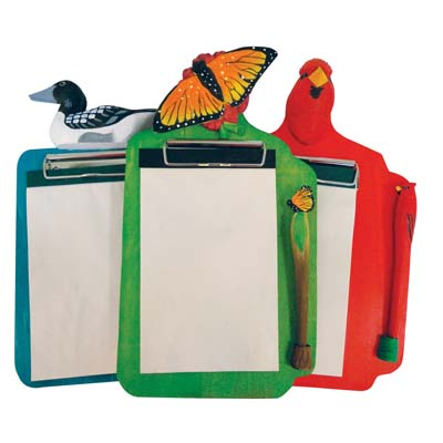 View CLIPBOARD SET 7 X 12 INCH INCLUDES PEN/PAD/CLIPBOARD ASSORTED BIRD DESIGNS