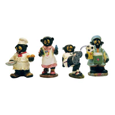 View POLYRESIN FIGURINES 5 INCH ASSORTED BEAR DESIGNS