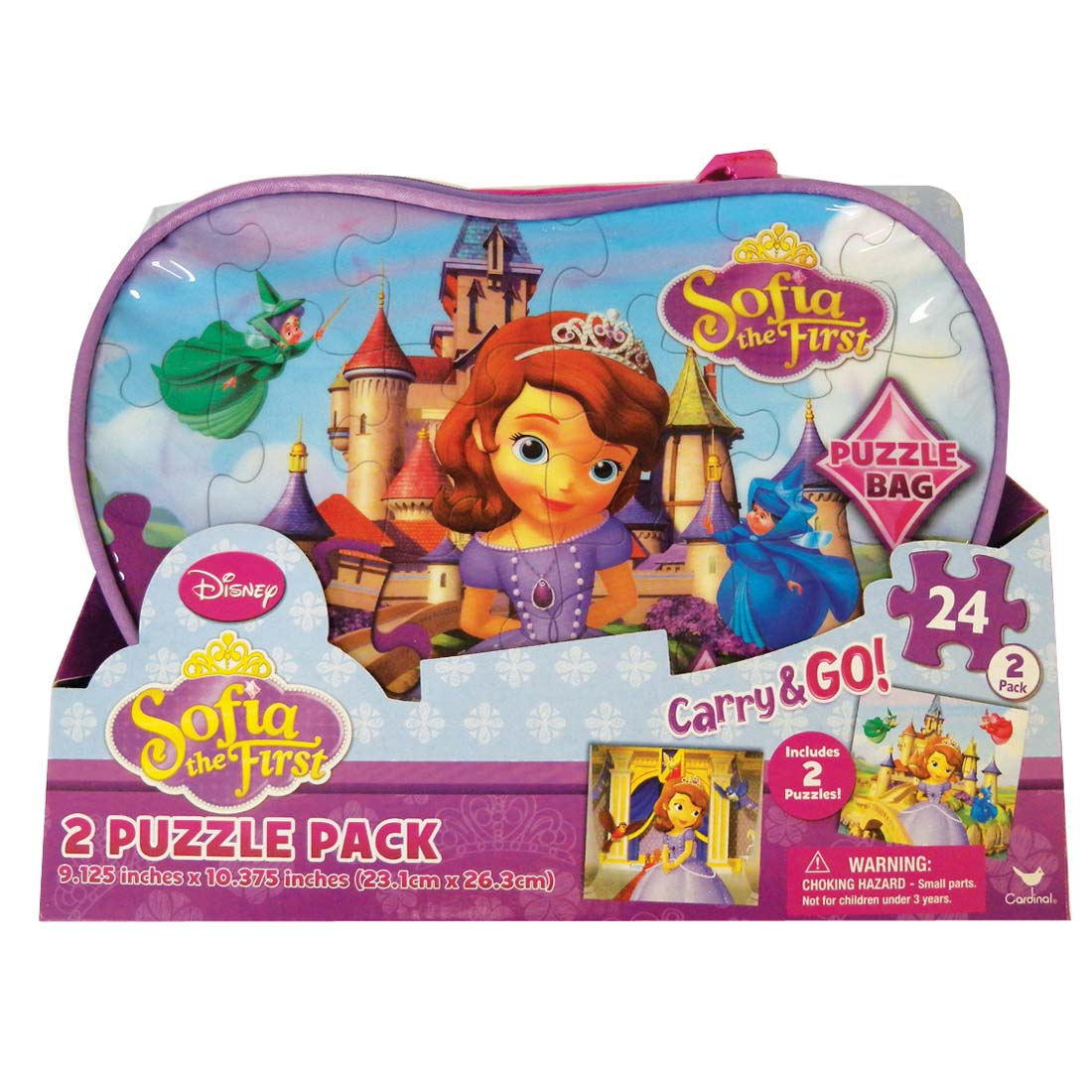 View DISNEY SOPHIA THE FIRST PUZZLE 24 PIECE 2 PACK CARRY AND GO