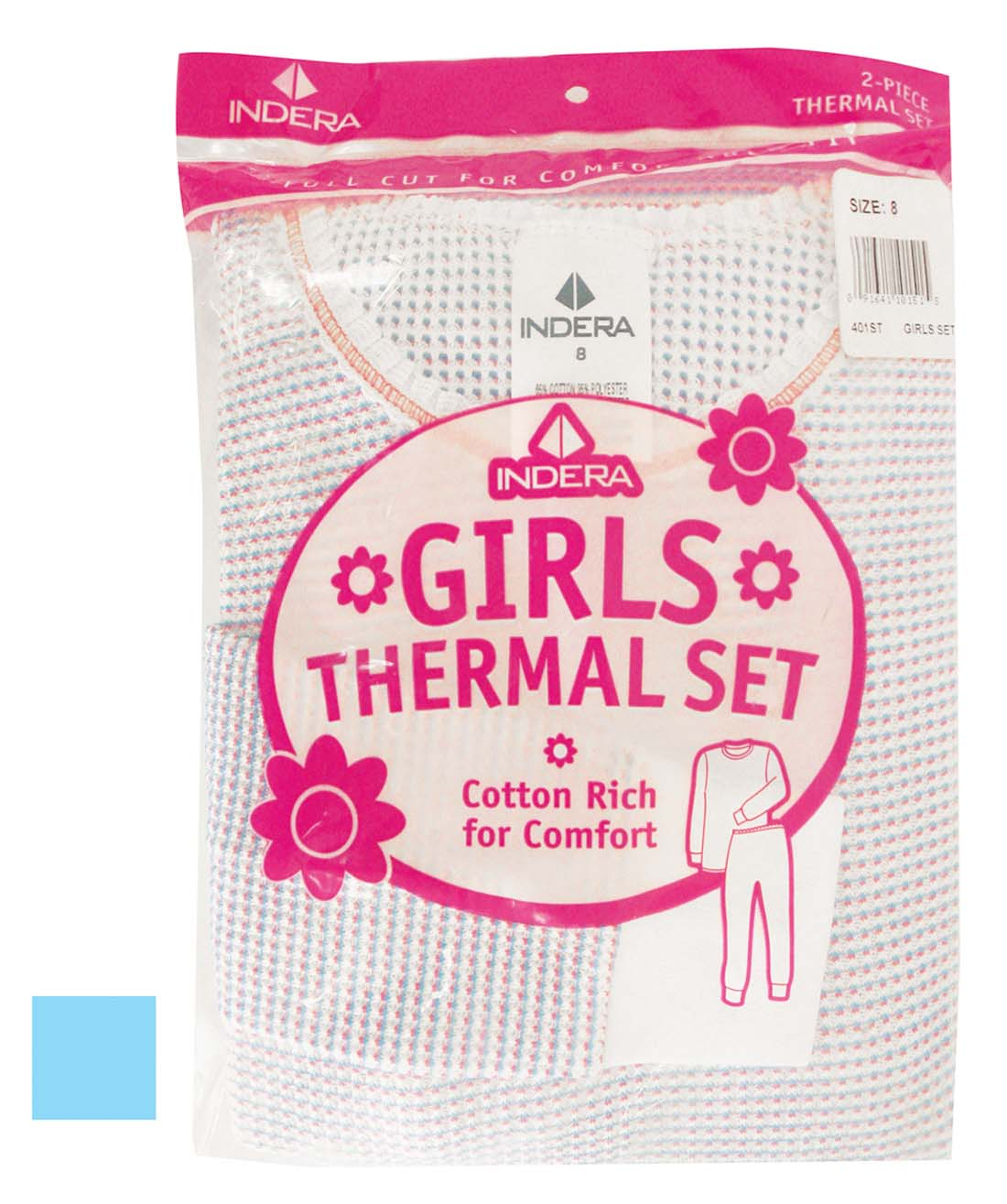 View GIRLS THERMALS SET 2 PIECE SIZE 8 ASSORTED COLORS