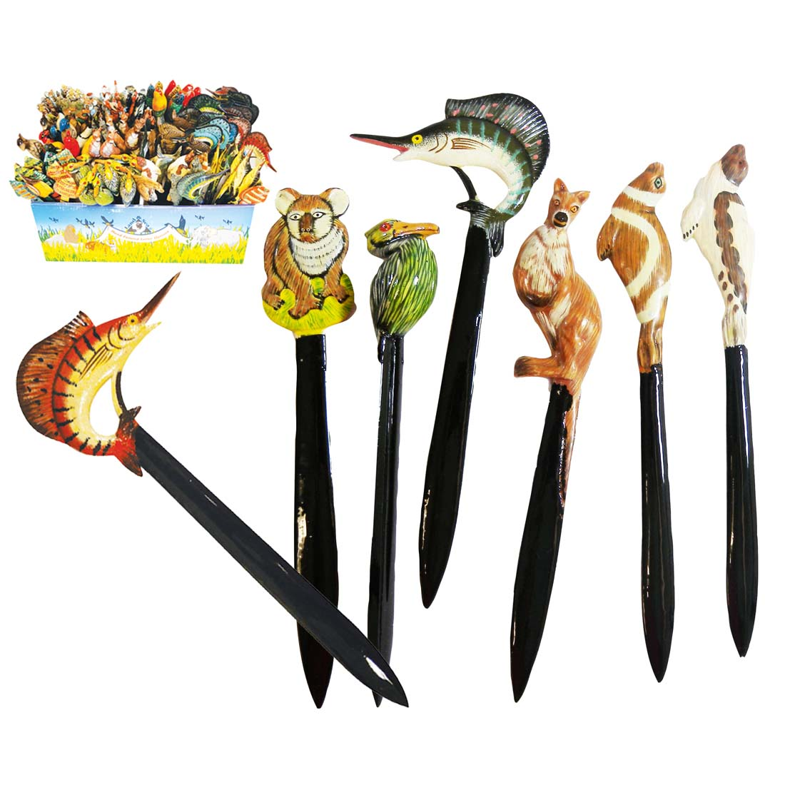 View LAND & SEA LETTER OPENERS 6 INCH WITH DISPLAY ASSORTED ANIMAL DESIGNS