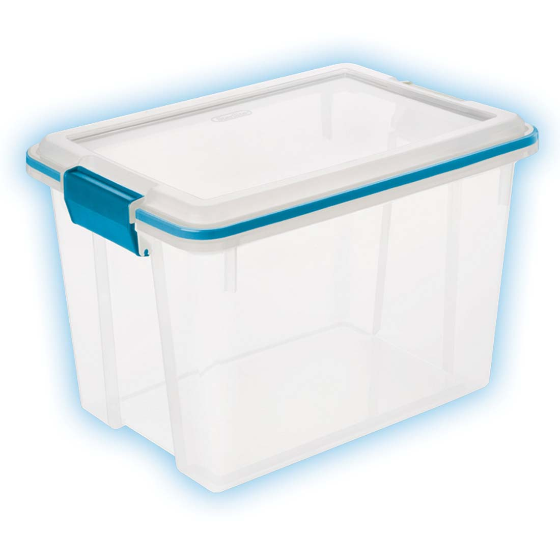 View STERILITE STORAGE BOX 16 X 11.25 10.75 INCH 20 QUART WITH LOCKING LID ** MADE IN USA **