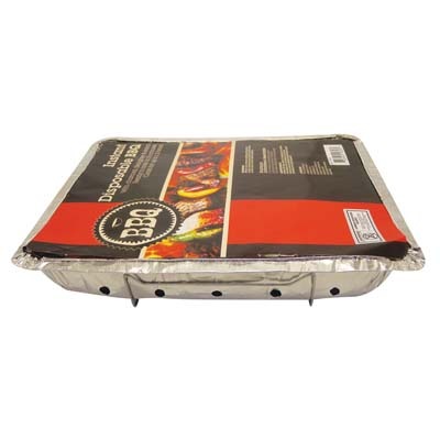 View INSTANT BBQ GRILL 19 X 12 X 2.25 INCH WITH CHARCOAL DISPOSABLE