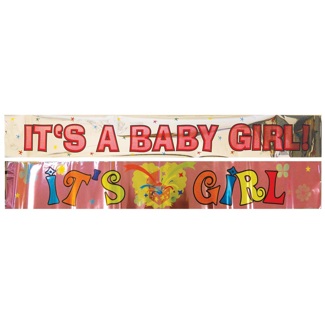 View FOIL BANNER 4 X 68 INCH IT'S A GIRL