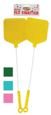 View FLY SWATTER 2 PACK 17 INCH METAL ASSORTED COLORS