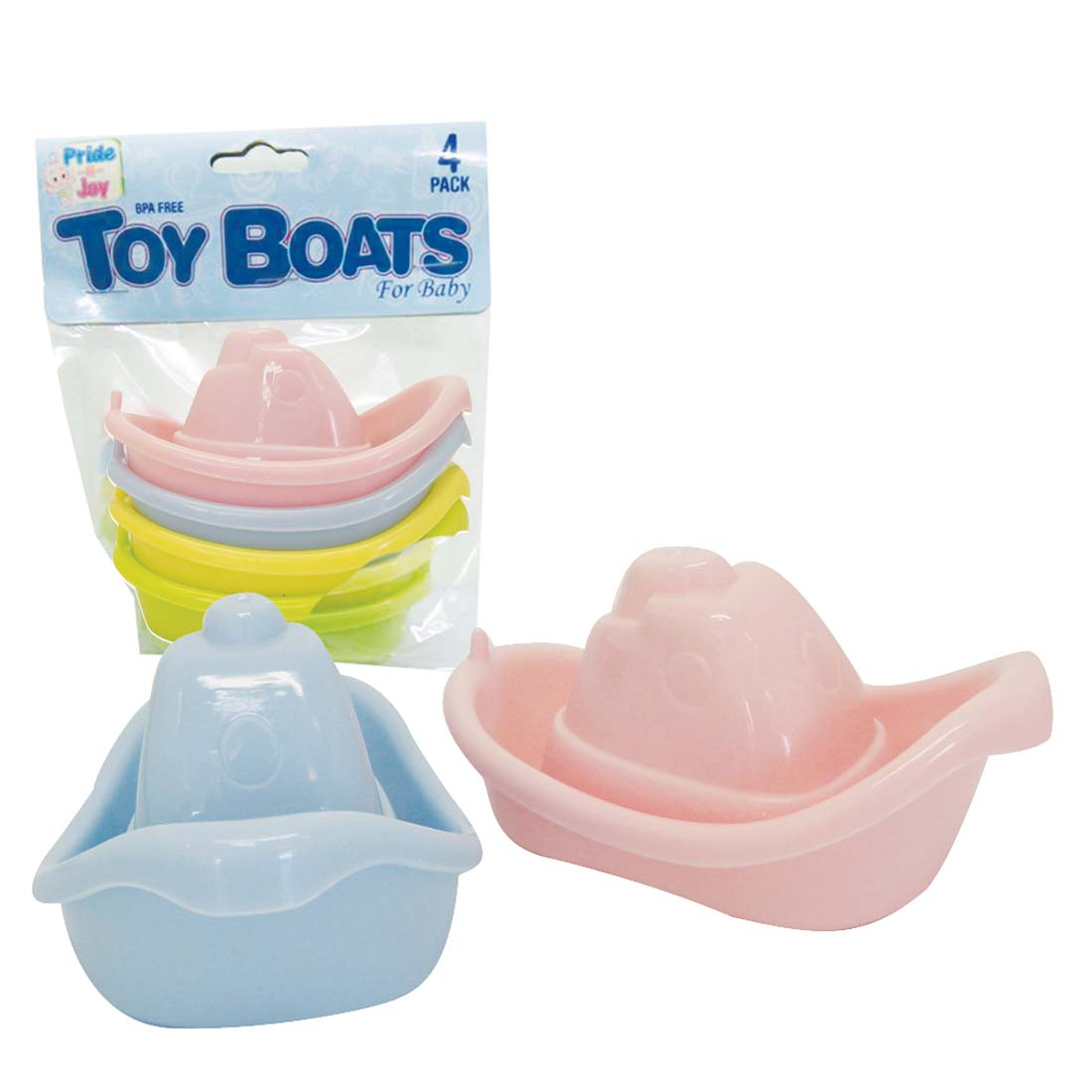 View BABY TOY BOAT 4 PACK ASSORTED COLORS
