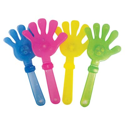 View CLAPPING HAND 9.5 INCH WITH LED LIGHTS ASSORTED COLORS