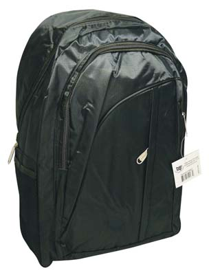 View BACKPACK 17 X 12 X 5.25 INCH WITH FRONT & SIDE POCKETS BLACK