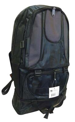 View BACKPACK 22 X 13.5 X 6 INCH EXPANDABLE WITH FRONT & SIDE POCKETS BLACK