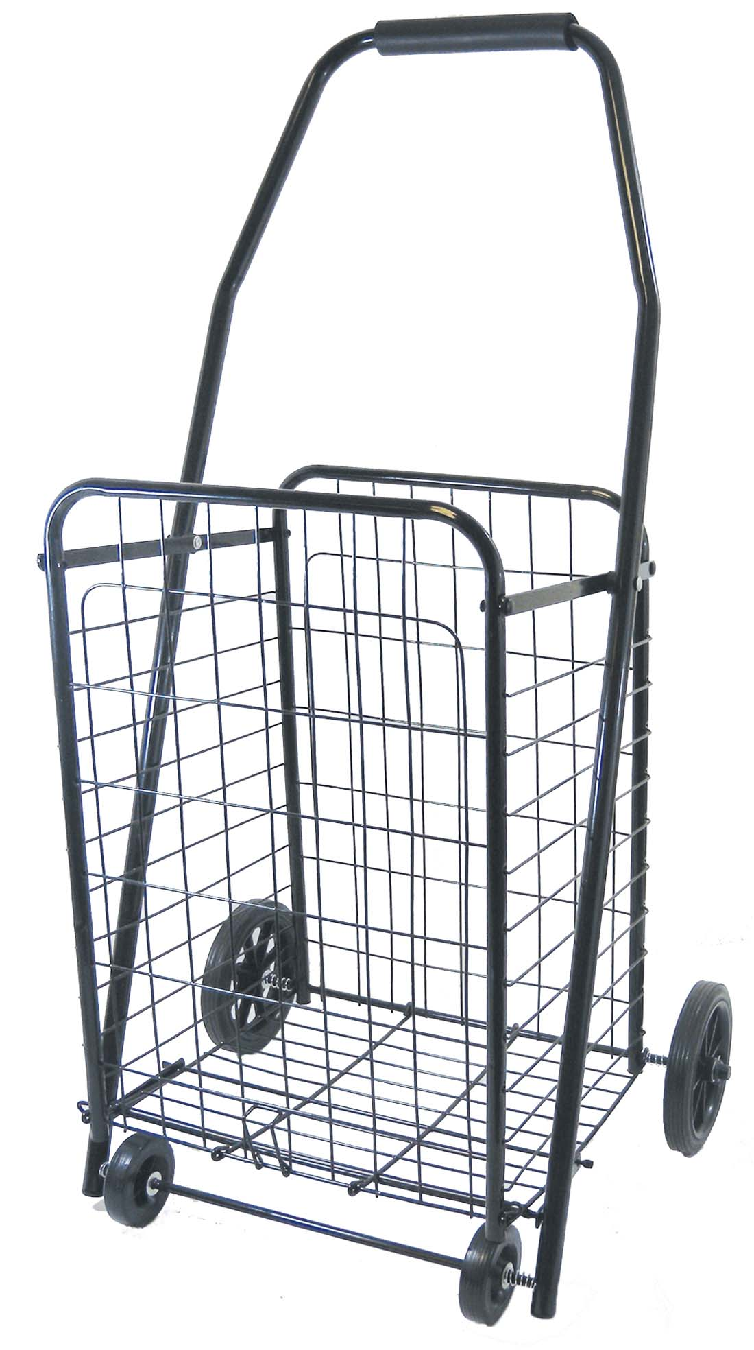 View METAL SHOPPING CART 34 X 18 X 14 INCH WITH 4 WHEELS