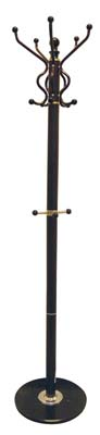 View COAT RACK 70 INCH WITH MARBLE BASE DARK BROWN