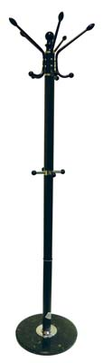 View COAT RACK 68 INCH WITH MARBLE BASE DARK BROWN